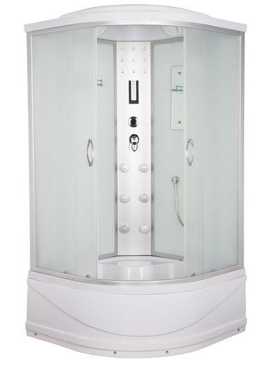 Душ. кабина ER4509TP-C3 90*90*215см,зад.стенка белое.стекло выс. под.ст.мат, проф.хром. 3к.